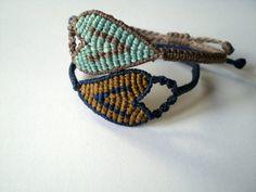 Macrame bracelets for your lovers. Bracelets hearts. Bracelets for Valentines day. Friendship bracelets.