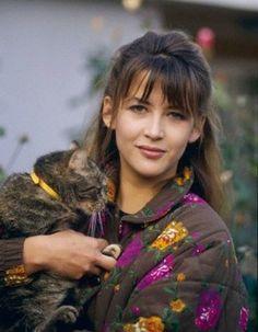 Sophie Marceau et son chat