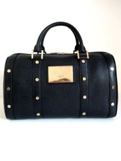 Chopard-Accessories-Boston-Accessories-Bag-In-Black-With-Red-Gold-Trim