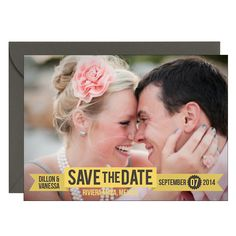 Ribbon Bottom Photo Save the Date