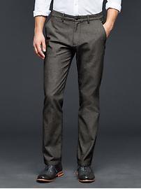Broken-twill pants (slim fit)