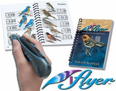 Bird book with a scanning wand that lets you hear bird calls.