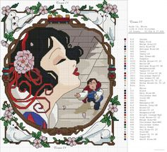 Snow white cameo cross stitch