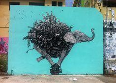 La Pandilla - http://lovestreetart.com/la-pandilla-x-don-rimx-new-mural-in-san-juan-puerto-rico/