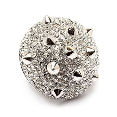 Pree Brulee - Razzle Dazzle Spiked Ring - Silver