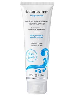 Collagen Boost - Restore and Replenish Cream Cleanser - 125ml-Balance Me