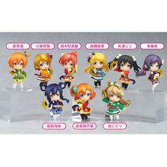 **The μ's members are giving their best for the most enjoyable performance yet!**    From the popular anime movie of *Love Live!* comes a set of the Nendoroid Petite figures of all the μ's members dressed up in their outfits from the movie's theme song, 'Angelic Angel'. The set includes Honoka Kosaka, Umi Sonoda, Kotori Minami, Hanayo Koizumi, Rin Hoshizora, Maki Nishikino, Nico Yazawa, Eli Ayase ...