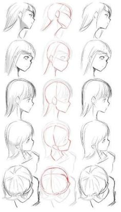 ▷ 1001 + ideas on how to draw anime - tutorials + pictures face drawing, from different angles, anime boy drawing, black and white, pencil sketch Drawing Reference Poses, Drawing Skills, Drawing Poses, Drawing Techniques, Design Reference, Drawing Tips, Drawing Sketches, Pencil Drawings, Art Drawings