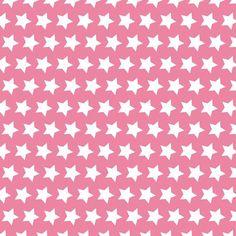 Tela tipo patchwork 100% algodón de primera calidad de importación (USA). Estrellas blancas sobre fondo rosa chicle. Ancho 110 cm. Cada estrella mide 2 cm de punta a punta. Es ligera, ideal para patchwork, confección, decoración y otros proyectos de costura.