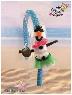 Olaf inspired ribbon Sculpture Headband
