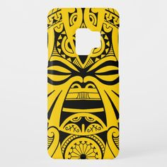 Polynesian tiki mask tattoo totem face case for Samsung Galaxy phone