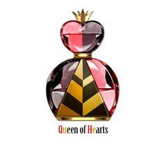 Disney villains queen of hearts perfume illustration (find all here http://www.pixiv.net/member_illust.php?mode=manga&illust_id=40760133)