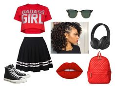 """""""Miami, beach!"""" by diana-gheatau on Polyvore featuring Converse, M Z Wallace, Beats by Dr. Dre, Ray-Ban and Lime Crime"""
