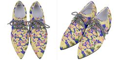 Full Jhor Women's Pointed Oxford Shoes is bright, fabulous and quirky and perfect for all season! Fashion tip: Wear it with black jumpsuit or casual black dress to make a statement! How will you wear it? Your Shoes, Women's Shoes, Floral Shoes, Adidas Fashion, Unique Shoes, Black Jumpsuit, Indie Brands, Shoe Collection, Low Heels