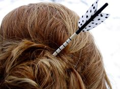 Adorable! Need these in garnet & gold! Hair Arrow. $10.00, via Etsy.