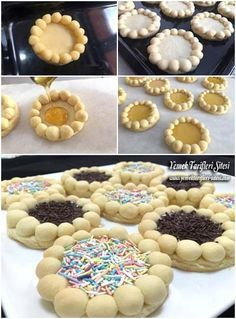This Pin was discovered by Hid Bagel Bread, Bread And Pastries, Donut Recipes, Cookie Recipes, Rodjendanske Torte, Lebanese Desserts, Peanut Butter Bread, Bread Shaping, Biscotti Cookies