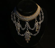 Draping Chain Maille Necklace by bananadine.deviantart.com on @DeviantArt