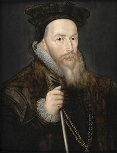 Portrait of William Cecil, Lord Burghley, Elizabeth I's chief Councillor and friend, who was one of the most powerful and successful political figures of the Tudor period.