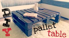 "We love pallet furniture! :) This was our first pallet project and sure not the last. Make your own pallet coffee table too! We created this cute table into our livingroom, and love it. I hope this video will motivate you to ""do it yourself"" :) Coffee Table Video, Diy Coffee Table, Coffee Table Design, Diy Table, Wood Table, Coffee Room, 1001 Pallets, Recycled Pallets, Wooden Pallets"