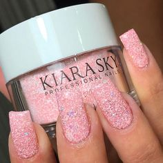 "3,813 Likes, 20 Comments - KIARA SKY™ NAIL PRODUCTS (@kiaraskynails) on Instagram: ""Check out this matte glitter mani by @sallon_bukurie_leo! She uses 'Pinking of Sparkle' (D496) from…"""
