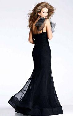 Black Sheath Floor-length Spaghetti Straps Dress