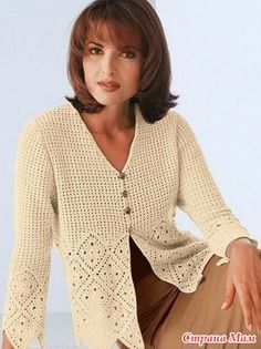 Crochet jacket PATTERN, detailed tutorial in ENGLISH for every row, crochet sweater pattern PDF, casual crochet jacket with scalloped edge. Crochet Jacket Pattern, Gilet Crochet, Crochet Coat, Crochet Cardigan, Crochet Clothes, Crochet Sweaters, Cardigan Pattern, Crochet Patterns, Irish Crochet