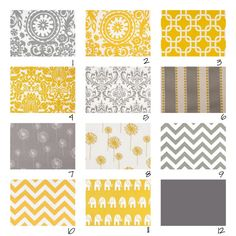 Custom Crib Bedding3 pieceYellow and Grey di fingersandtoes
