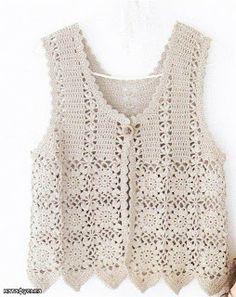 776fb16aea9f Meus Hamaratabla  senhoras CASACOS MODELOS Crochet Coat, Crochet Vest  Pattern, Crochet Cardigan,