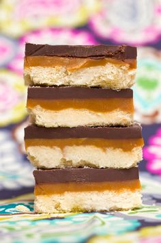 : Homemade Twix Bars