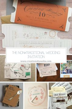If you're a non-traditional bride, you'll want to see these non-traditional wedding invitations. Check them out to get inspired!