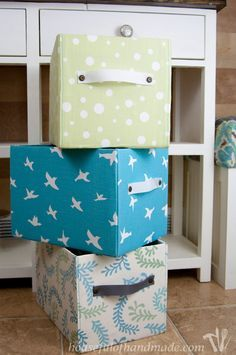 Storage Boxes Decorative Fabric Stepbystep How To Cover Storage Boxes In Fabric Crafty