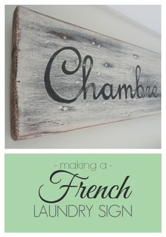Making a French Laundry Sign | www.honeyandroses.com
