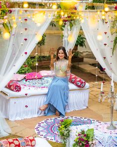 You are sure to find your dream bridal outfits with our roundup of the best mehendi outfits 2019 here. Bridal wear for mehendi ceremony. Mehendi Decor Ideas, Mehndi Decor, Desi Wedding Decor, Indian Wedding Decorations, Wedding Stage, Indian Weddings, Wedding Ideas, Wedding Quotes, Wedding Goals