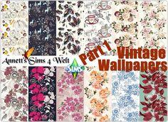 Annett's Sims 4 Welt: Vintage Wallpapers - Part 1