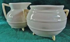 Irish Belleek 232 Irish Pot & Cream Size 2 3rd Green Mark 1965-1981 #IRISHBELLEEK