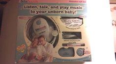 NEW Bebe Sounds Prenatal Gift Set Original Box Heart Listener Maternity Belt #Unisar