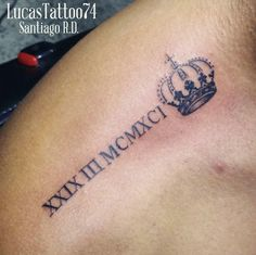 Roman Numeral Tattoo by Lucas Rosario