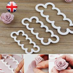 Brand New and high quality. Easy to use and clean Made from durable material and nice design, can make plum or rose flower fondant cake's decoration or cookie. You better to clean… Fondant Rose, Fondant Icing, White Rose Flower, 3d Rose, Cake Decorating With Fondant, Cake Decorating Supplies, Decorating Tips, Baking Supplies, Marzipan