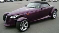 Prince's purple Plymouth prowler, similar to this one, is on display in the Paisley Park Soundstage (Photo credit: Michael Rivera)