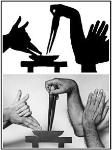 how to make shadow puppets with one hand