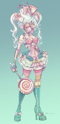 Candy Steampunk Sketch by NoFlutter.deviantart.com