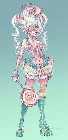 Candy Steampunk Sketch by NoFlutter.deviantart.com