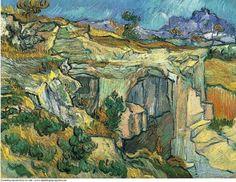 Vincent van Gogh, Entrance to a Quarry near Saint Remy, 1889. on ArtStack #vincent-van-gogh #art