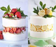 Cake Decorating Frosting, Cake Decorating Videos, Cake Decorating Techniques, Simple Cake Decorating, Pretty Birthday Cakes, Pretty Cakes, Strawberry Birthday Cake, Simple Cake Designs, Grolet