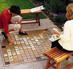 Outdoor scrabble  - I think I need to take this into consideration when planning my landscaping!