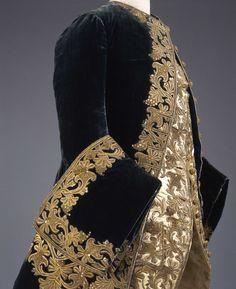 Suit, From the Galleria del Costume di Palazzo Pitti via Europeana… 18th Century Dress, 18th Century Costume, 18th Century Clothing, 18th Century Fashion, Historical Costume, Historical Clothing, Vintage Outfits, Vintage Fashion, Design Textile
