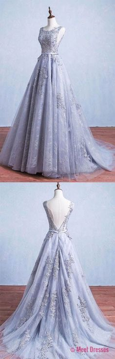 Gray Prom Dresses,Prom Dress,Prom Dress,Gray Prom Dresses,Formal Gown,lace Evening Gowns,Modest Party Dress,Prom Gown For Teens PD20186578