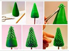 christmas tree - fondant