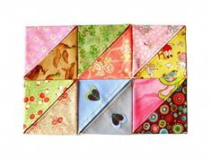 fabric corner bookmark - etsy