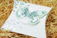 Zurück: Die Pillowbox! | Nellis Stempeleien; Quadratische Pillow Box, Stampin' UP!, Watercolor Wings,